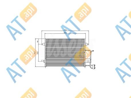 Радиатор кондиционера RC94922