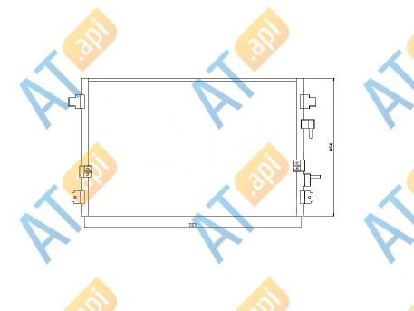 Радиатор кондиционера RC95010