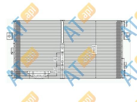 Радиатор кондиционера RC95017