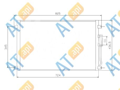 Радиатор кондиционера RC95018