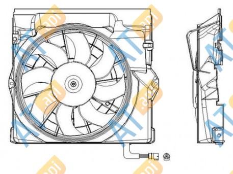 Диффузор радиатора RDBM320040