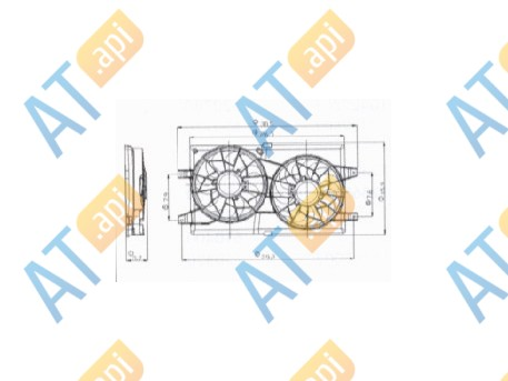 Диффузор радиатора RDCR620170