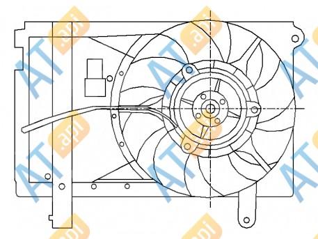 Диффузор радиатора и кондиционера RDCVA5004A0