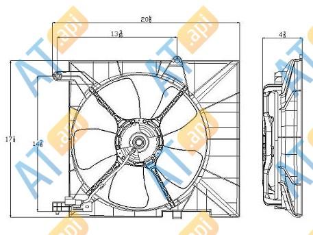 Диффузор радиатора RDCVA5004C0