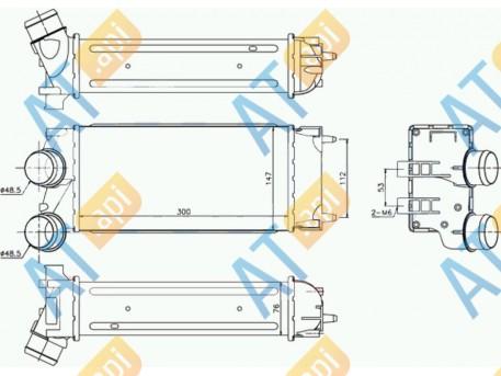 Радиатор интеркулера RI96514
