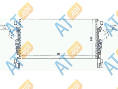 Радиатор интеркулера RI96555