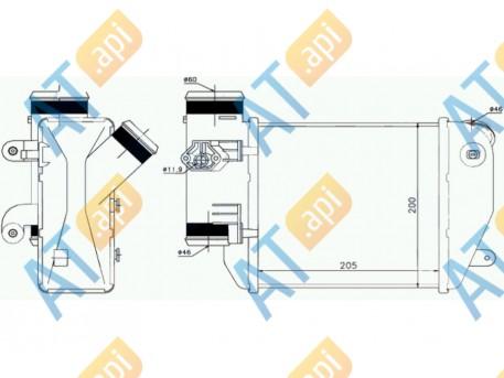 Радиатор интеркулера RI96576