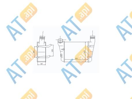 Радиатор интеркулера RI96707