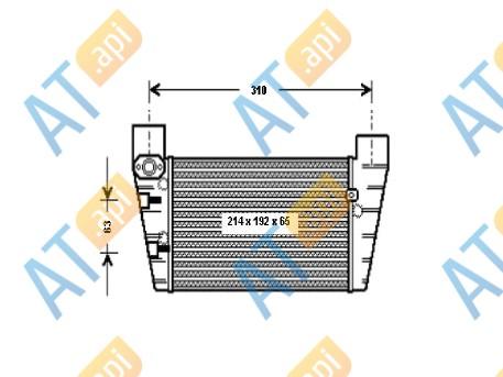Радиатор интеркулера RI96709