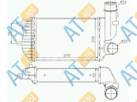 Радиатор интеркулера RI96889