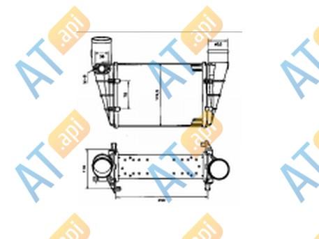 Радиатор интеркулера RI96896