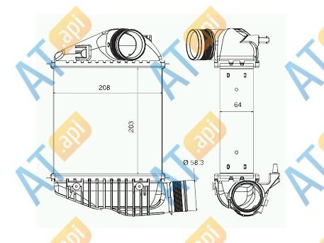 Радиатор интеркулера RI99011