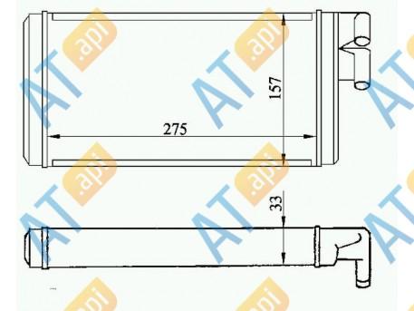 Радиатор обогрева салона RP70220