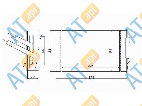 Радиатор обогрева салона RP70976