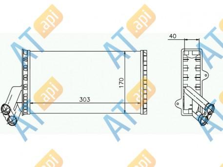 Радиатор обогрева салона RP71149
