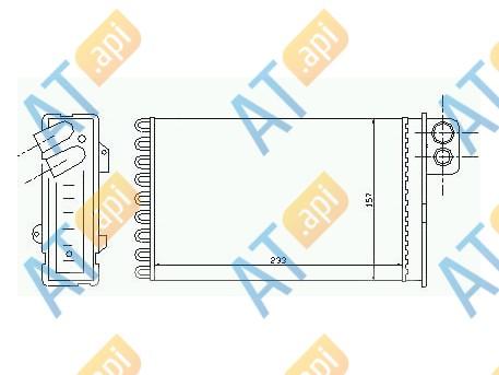 Радиатор обогрева салона RP71152