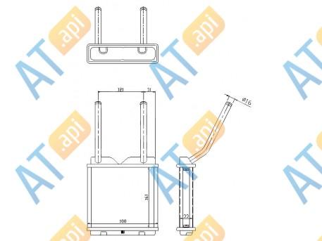 Радиатор обогрева салона RP72653
