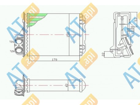 Радиатор обогрева салона RP76512